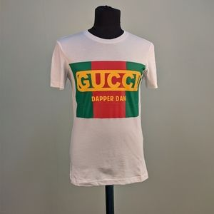 Gucci Dapper Dan White Color Front Print T-Shirt